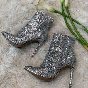 WILD DIVA Glitter Booties High Heels